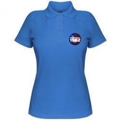 Женская футболка поло На земле с 1982 - FatLine