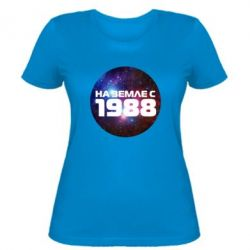 Женская футболка На земле с 1988 - FatLine