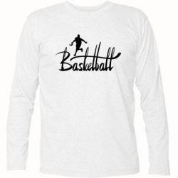 Футболка с длинным рукавом Надпись Баскетбол - FatLine