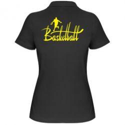 Женская футболка поло Надпись Баскетбол - FatLine