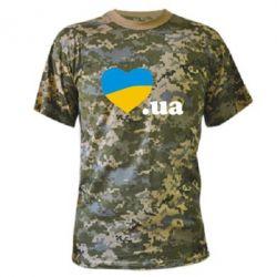 Камуфляжная футболка Народився в Україні - FatLine