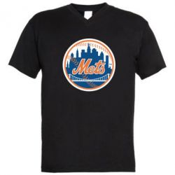 Мужская футболка  с V-образным вырезом New York Mets - FatLine