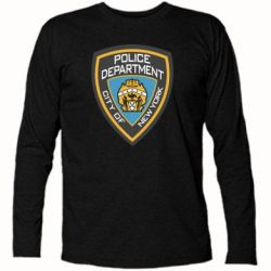 Футболка с длинным рукавом New York Police Department - FatLine