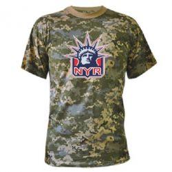 Камуфляжная футболка New York Rangers - FatLine