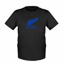Детская футболка new zealand all blacks - FatLine