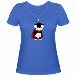 Женская футболка с V-образным вырезом Нибблер - FatLine