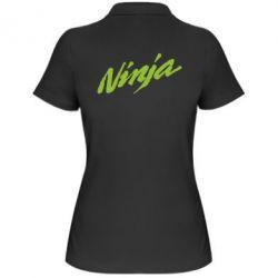 Женская футболка поло Ninja - FatLine