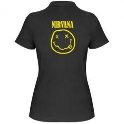 Жіноча футболка поло Nirvana (Нірвана) - FatLine