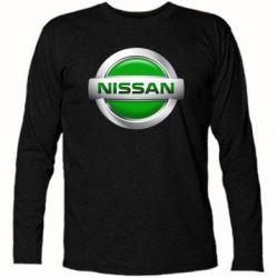 Футболка с длинным рукавом Nissan Green - FatLine