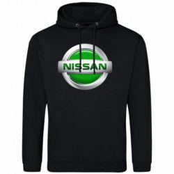 Мужская толстовка Nissan Green - FatLine