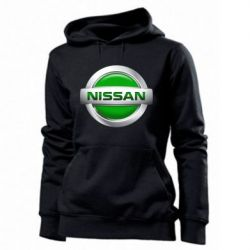 Женская толстовка Nissan Green - FatLine
