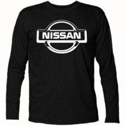 Футболка с длинным рукавом Nissan Logo - FatLine