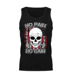 Мужская майка No pain-no gain skull - FatLine