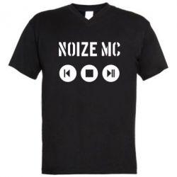 Мужская футболка  с V-образным вырезом Noize MC player - FatLine