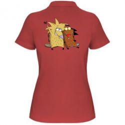Женская футболка поло Норберт и Деггет - FatLine