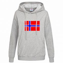Женская толстовка Норвегия - FatLine