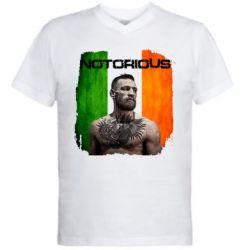 Мужская футболка  с V-образным вырезом Notorious - FatLine