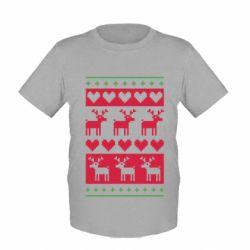 Детская футболка Новогодние узоры - FatLine