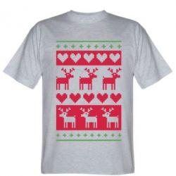 Мужская футболка Новогодние узоры - FatLine