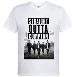 Мужская футболка  с V-образным вырезом NWA in da streets