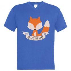 Мужская футболка  с V-образным вырезом Of for fox sake
