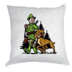 Подушка Охотник с собакой - FatLine