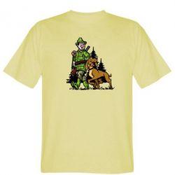 Мужская футболка Охотник с собакой - FatLine