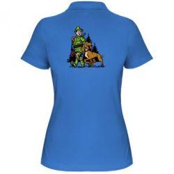Женская футболка поло Охотник с собакой - FatLine