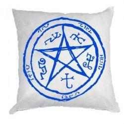 Подушка Оккультный символ Сверхъестественное - FatLine