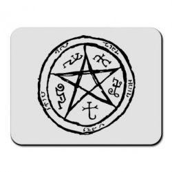 Коврик для мыши Оккультный символ Сверхъестественное - FatLine