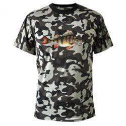 Камуфляжная футболка Окунь - FatLine