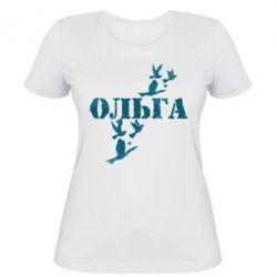 Женская футболка Ольга