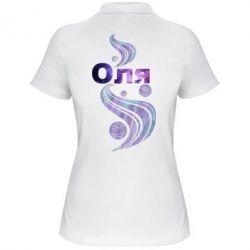 Женская футболка поло Оля
