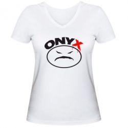 Женская футболка с V-образным вырезом Onyx - FatLine