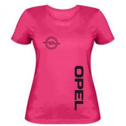 Женская футболка Опель - FatLine