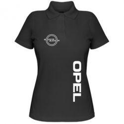 Женская футболка поло Опель - FatLine