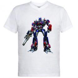 Мужская футболка  с V-образным вырезом Optimus