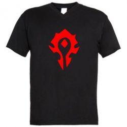 Мужская футболка  с V-образным вырезом Орда - FatLine