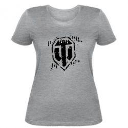 Женская футболка Отпечаток гусениц WOT - FatLine