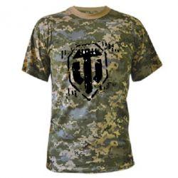 Камуфляжная футболка Отпечаток гусениц WOT - FatLine