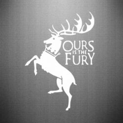 Наклейка Ours is the fury - FatLine