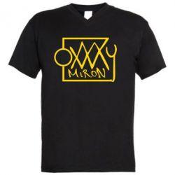 Мужская футболка  с V-образным вырезом OXXXY Miron - FatLine