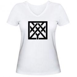 Женская футболка с V-образным вырезом Oxxxymiron - FatLine