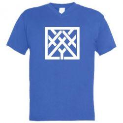 Мужская футболка  с V-образным вырезом Oxxxymiron - FatLine