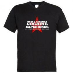 Мужская футболка  с V-образным вырезом Pablo Escobar - FatLine