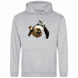 Мужская толстовка Падающая Панда - FatLine