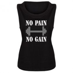 Женская майка Pain Gain - FatLine