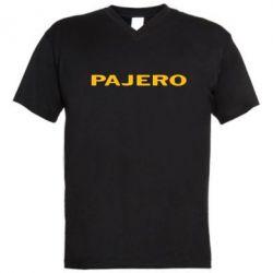 Мужская футболка  с V-образным вырезом PAJERO - FatLine