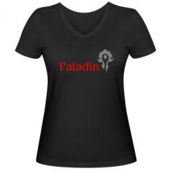 Женская футболка с V-образным вырезом Paladin - FatLine