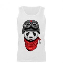 Майка чоловіча Панда у касці